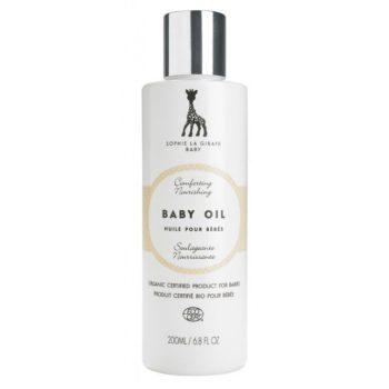 Luomulaatuisella vauvaöljyllä on monta käyttötapaa: puhdista ruokailun jäljet kasvoilta, siisti peppu, kosteuta iho ja pehmitä kylpyvesi.