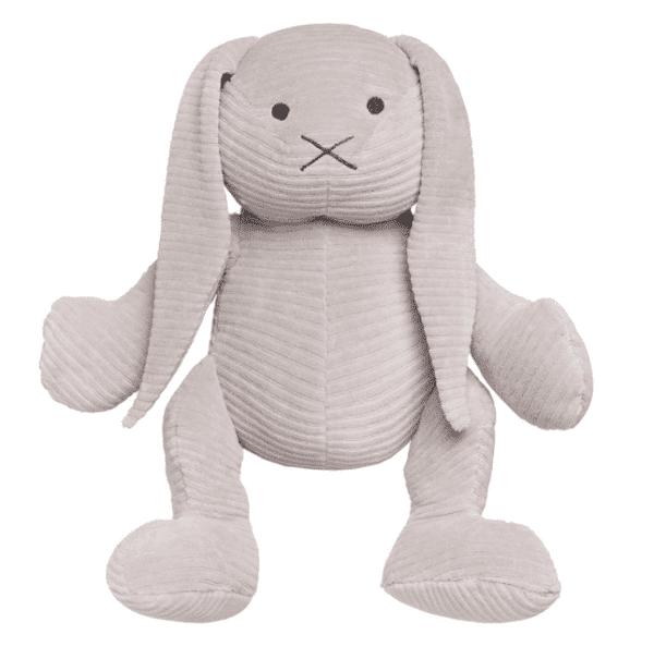 Baby's Only iso pehmopupu, Pebble Grey. Uusi versio pupupehmolelusta, joka on vuosien ajan ollut PikkuVaniljan asiakkaiden erityinen suosikki! Tämäpehmopupu sulostuttaa minkä tahansa vauvanhuoneen! Valkoinen pupu on silkinsileää samettikangasta ja se pysyy helposti istuma-asennossa, joten se sopii lasten leikkien lisäksi vauvanhuoneen koristeeksi. Tätä kaveria on helppo halia!