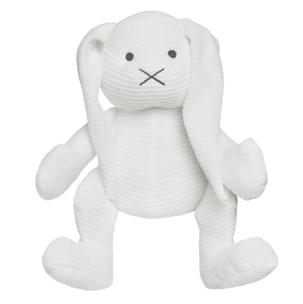 Baby's Only iso pehmopupu, valkoinen sametti Uusi versio pupupehmolelusta, joka on vuosien ajan ollut PikkuVaniljan asiakkaiden erityinen suosikki! Tämäpehmopupu sulostuttaa minkä tahansa vauvanhuoneen! Valkoinen pupu on silkinsileää samettikangasta ja se pysyy helposti istuma-asennossa, joten se sopii lasten leikkien lisäksi vauvanhuoneen koristeeksi. Tätä kaveria on helppo halia!