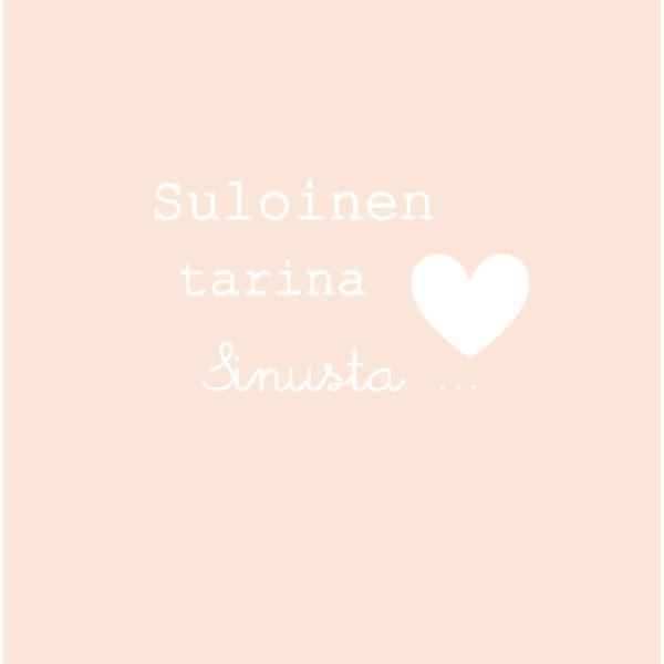 Suloinen tarina sinusta sopii kauniisti etenkin vaaleansävyiseen sisustukseen! Ihana idea Baby Shower-lahjaksi, kastelahjaksi tai yllätykseksi tuoreelle vauvaperheelle!