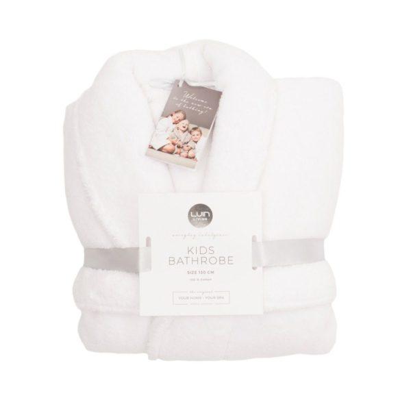 Luin Living lasten kylpytakki Snow valkoinen. Kylvyn ja suihkun jälkeen lapset osaavat itse kietoutua kylpytakkiinsa.Lasten suosikkiyksityiskohdattaitavat ollakaksi tilavaa taskua, jonne on kiva kerätä pieniä tavaroita tai joiden uumenissa voi kantaa oman pillimehun saunalle. Pehmeä kylpytakki on helppo pukea ja se pysyy päällä sidottavan vyön avulla. Vyö on ommeltu takaa kiinni kylpytakkiin, joten vyö pysyy hyvin tallessa!