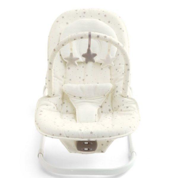 Mamas&Papas Wave Rocker vauvan keinusitteri on kauniin vaalea sävyltään.
