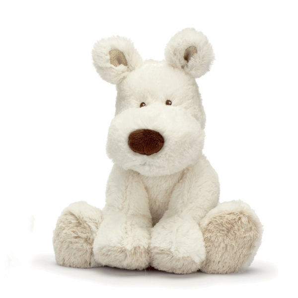 Teddykompaniet Teddy Cream valkoinen koiranpentu on silkkisen tuntuinen halikaveri. Ihana lahja lapsille!