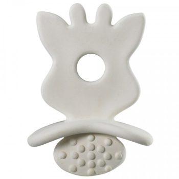 Sophie the giraffe So'Pure chewing rubber on pieni ja kevyt purulelu vauvalle. Purulelu on luonnonkumia, joten se on turvallinen vauvan pureskella ja tutkia.
