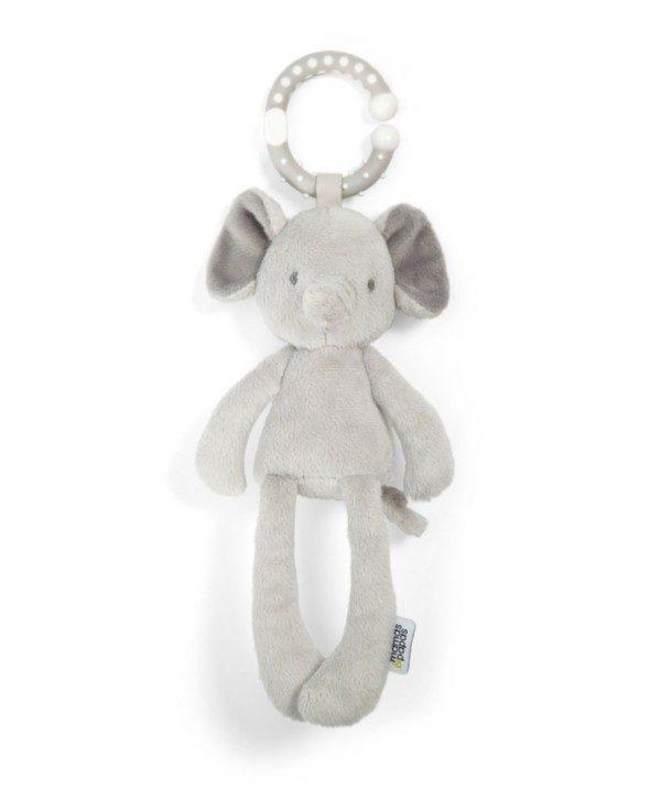 Mamas&Papas helisevä pikkunorsu kulkee helposti vauvan mukana paikasta toiseen. Pehmeä norsu on juuri sopivan kokoinen vauvan käsiin.