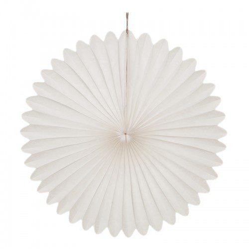 Nämä hieman lumitähden näköiset valkoiset koristeet sopivat kauniisti jokaiseen juhlaan! Yhdistä paperikoristeet ilmapallojen, pompomien tai viirin kanssa ja juhlat voivat alkaa!