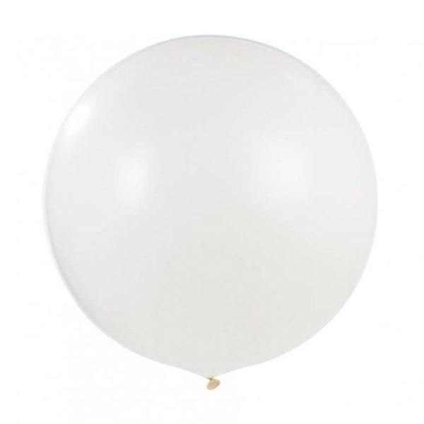 Tämä iso valkoinen ilmapallo on upea koriste vauvajuhlissa ja lasten syntymäpäivillä. Yhdessä pienempien ilmapallojen kanssa saat tästä todella näyttävän kokonaisuuden! Jätti-ilmapallo on kaunis yksityiskohta myös lasten valokuvauksessa!
