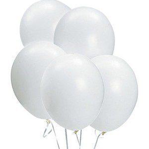 Kuulaan valkoisena hohtavat ilmapallot ovat tyylikäs valinta juhliin! Voit yhdistää pallot pom pom -koristeisiin tai juhlavaan viiriin, saat juhlatilan koristeltua kauniisti ja helposti!