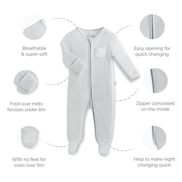 Pehmeän materiaalinsa puolesta tämä potkupuku sopii hyvin käytettäväksi myös päivällä: vauvan mahaan ei näin kohdistu housujen kiristävää saumaa, vauva on helppo nostaa syliin potkupuku päällä, eivätkä vaatteet mene rullalle kainaloon ja mikä parhainta, varpaat pysyvät lämpöisenä! Potkupuku on erittäin kätevä liikkuvaisella lapsella!