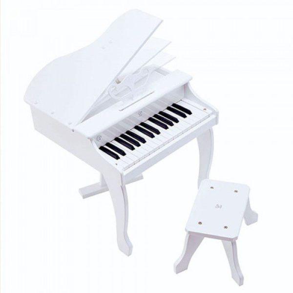 Tyylikäs pieni flyygeli on suunniteltu aloitteleville pianisteille. Puisessa flyygelissä on avattava kansi ja 30 kosketinta (yli kaksi oktaavia) joka mahdollistaa oikeiden kappaleiden soittamisen. Flyygelissä on upea sointi, äänen voimakkuus reagoi kosketukseen kuten isommissa soittimissa. Mukana on nuottiopas, jonka avulla soittamista on helppo lähteä harjoittelemaan yhdessä vanhemman kanssa.