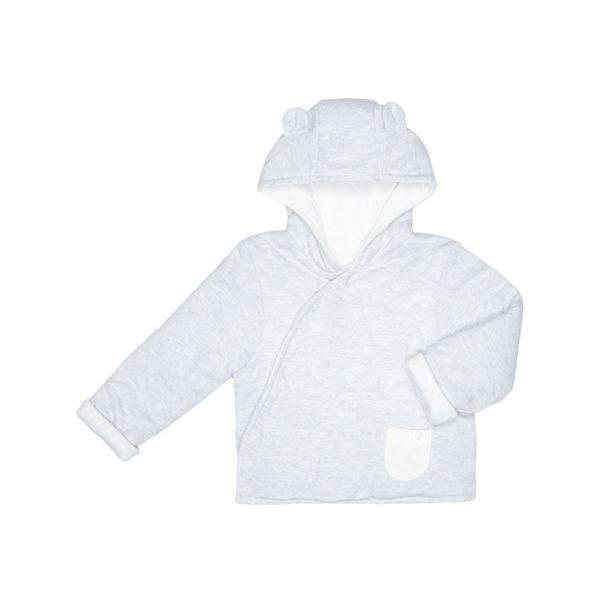 Baby Mori vauvan takki neppareilla, vaaleanharmaa Todella laadukas luomukankaista valmistettu ja kevyesti topattu takki vauvalle. Upea yhdistelmä puhdasta luomupuuvillaa ja bambua tekee takista unelmanpehmeän! Baby Mori takki on täydellinen valinta yhdessä lämpöpussin kanssa käytettäväksi vauvan matkustaessa autossa tai vaunuissa, takki vastaa lämmittävyydeltään topattua hupparia. Lämpöisemmillä keleillä neppareilla kätevästi suljettava takki riittää sellaisenaan!