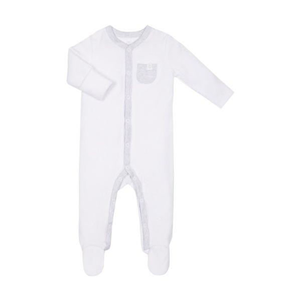 Mikä muu vaate on kosketuksissa vauvan ihoa vasten enemmän kuin pyjama? Pienet vauvat nukkuvat melkein koko ajan, siksi juuri pyjamaan kannattaa panostaa. Baby MORI pyjamassa yhdistyy puhtaan luomulaatuinen, ennennäkemättömän pehmeä kangas sekä ajattoman tyylikäs design.