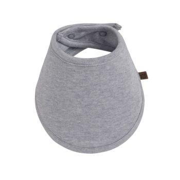 """Baby's Only vauvan huivi Grey Melange, nepparikiinnitys Pienten tyylikkäässä pukeutumisessa vauvojen huivit ovat nopeasti tehneet läpimurron. Baby's Only huivi on todella mainio asuste, sillä se """"kerää"""" kuolan ja pulautukset, jolloin vauva välttyy epämukavan märiltä paidoilta ja ylimääräisiltä vaatteidenvaihdoilta. Voit pukea huivin vauvalle myös ennen imetystä, jolloin vauvan vaatteet pysyvät kuivina ja mukavina myös ruokailun ajan."""