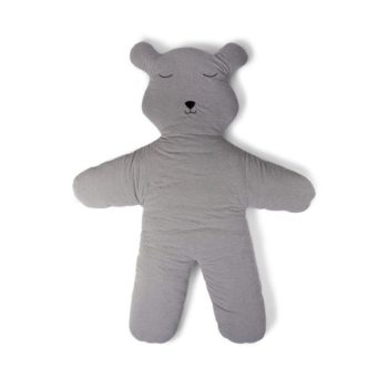 Childhome Teddy jättikokoinen leikkimatto, harmaa Todella suurikokoinen nallenmallinen leikkimatto on pehmeä alusta vauvan makoilla ja harjoitella liikkeelle lähtemistä! Myöhemmin lapsen on kiva leikkiä mukavalla matolla omia lempileikkejään!