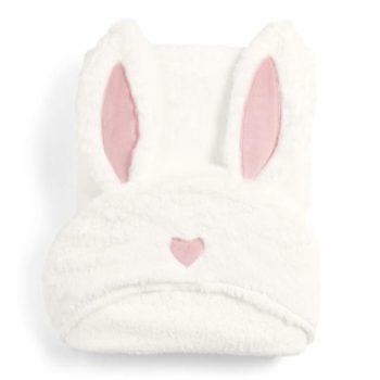 Mamas&Papas Bunny vauvan huppupyyhe korvilla Pehmoinen ja lämmin huppupyyhe pienelle kylpijälle! Suloisina yksityiskohtina tässä valkoisessa vauvan kylpypyyhkeessä ovat pupunkorvat ja vaaleanpunainen pieni sydän!