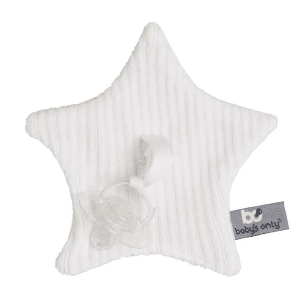 Baby's Only Sense vauvan tuttiuniriepu, tähti Tämä kaunis tähdenmuotoinen uniriepu on nerokas keksintö! Unirievun keskelle saat kiinnitettyä vauvan tutin, jolloin se on helppo löytää kesken unienkin. Vauvat rakastavat näpertämistä nukahtaessaan ja uniriepu tuo turvaa yhdessä tutin kanssa. Uniliina on toiselta puolelta kaunista sileää neulosta ja toiselta puolelta silkinsileää pehmoleluista tuttua samettikangasta. Tästä uniliinasta pienet sormet saavat hyvän otteen.