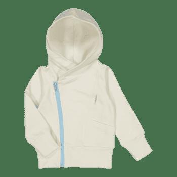 Gugguu College Hoodie vauvan huppari, sävy White Sand / Baby Blue Rakastettu suosikkituote! Gugguu College Hoodie on hyvin laadukas huppari vauvalle. Candy kokoelman tyylikäs, paksummasta kankaasta ommeltu huppari sopii hyvin päivittäiseen käyttöön ja lämpimämmällä kelillä menee myös takista. Valkoisessa hupparissa on kivana yksityiskohtana vaaleansininen vetoketju.