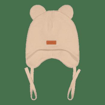 Gugguu Baby Bear vauvan nauhapipo nallekorvilla, sävy Linen Beige Yksinkertaisen tyylikäs nauhapipo on ommeltu pehmeästä ja joustavasta kankaasta. Luomupuuvillainen pipotuntuu mukavalta lapsen päässä eikä hankaa. Hyvin istuva pipo pysyy paikallaan valumatta silmille. Tämä pipomalli suojaa korvien lisäksi tehokkaasti myös vauvan poskia!