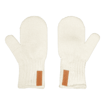 Gugguu laadukkaat lapaset, sävy White Sand Ajattoman tyylikkäät luomupuuvillaiset lasten lapaset. Luomupuuvillaiset lapaset joustavat hyvin ja ovat helpot pukea lapsen käsiin!