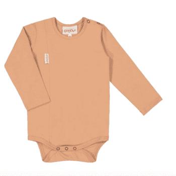 Gugguu Unisex Body, sävy Sugar Cookie Pehmeä ja laadukas Natural malliston vauvanbody on todella mukava päällä. Pitkähihaisen bodyn olkapäällä on neppari helpottamaan bodyn pukemista. Ajattoman tyylikäs body on kätevä yhdistää housuihin ja hameeseen: body pitää myös vauvan selän suojassa silloin, kun vauvaa nostetaan, eikä nouse korviin.