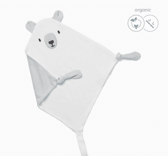 Baby MORIvauvan tuttiuniriepu, nalle Tämä suloinen uniriepu on nerokas keksintö! Unirievun alareunaan saat kiinnitettyä vauvan tutin, jolloin se on helppo löytää kesken unienkin. Vauvat rakastavat näpertämistä nukahtaessaan ja uniriepu tuo turvaa yhdessä tutin kanssa.