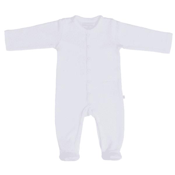 Baby's Only Pure white vauvan terällinen potkupuku, valkoinen Terälliset lahkeet pitävät pienet varpaat lämpöisenä, eikä sukkia tarvita tämän potkupuvun kanssa lainkaan! Potkupuvussa on pitkät hihat ja nepparikiinnitys. Edessä ja takana on pienet koristetaskut. Potkupuku on mukava vaate vauvalle, koska se ei purista mahan kohdalta, kuten jotkin housut ja vyötärönauhat saattavat tehdä. Vauva on myös helppo nostaa kun hänellä on päällään potkupuku: se ei nouse ikävästi kainaloihin tai jää ruttuun.